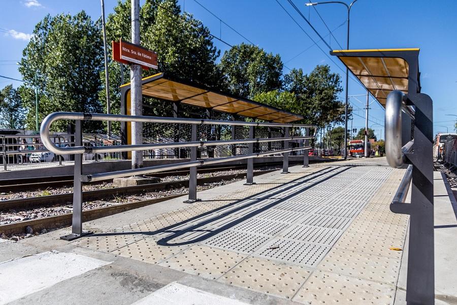 Rampa de acceso a estación Fátima